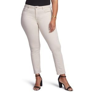 Plus Size Stretch Jeans Straight Ankle Length Pant